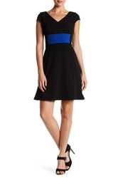 Julia Jordan V Neck Knit Dress Black