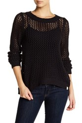 Rip Curl Looking Back Open Stitch Pullover Black