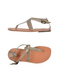 Local Apparel Thong Sandals Dark Brown