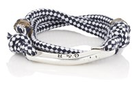 Giles And Brother Rope Wrap Bracelet Navy