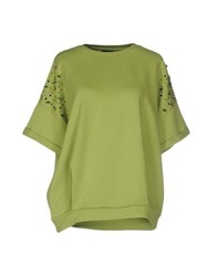 Twin Set Jeans Topwear Sweatshirts Women Light Green