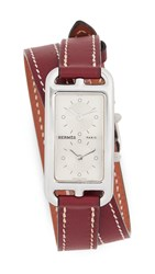 Wgaca What Goes Around Comes Around Hermes Brown Cape Cod Double Watch