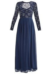 Lace And Beads Carnation Occasion Wear Navy Blue