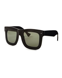 Status Thick Plastic Sunglasses Black Grey Ant