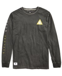 Lrg Men's Wavy Long Sleeve T Shirt Black
