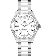 Tag Heuer Way131h.Ba0914 Aquaracer Stainless Steel And Ceramic Watch White