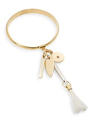 Chloe Harlow Feather Bangle Bracelet Natural