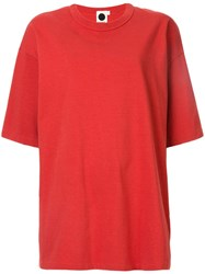 Bassike Heritage T Shirt Red