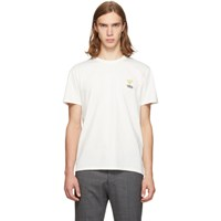Maison Kitsune White Smiley Fox T Shirt