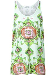 Givenchy Aztec Print Tank Top Green