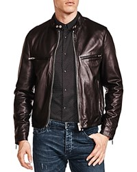 The Kooples Lamb Leather Racing Jacket Black