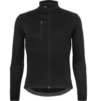 Cafe Du Cycliste Yolande Faux Suede Trimmed Cycling Jersey Black