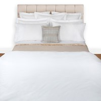 Peter Reed White 2 Row Cord Duvet Cover Double