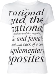 Moschino Vintage Quote Printed T Shirt White