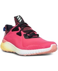 Adidas Women's Alpha Bounce Running Sneakers From Finish Line Red Black Orange