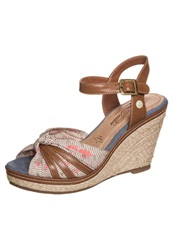 Tom Tailor Wedge Sandals Mud Taupe