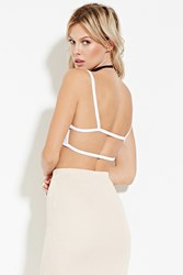 Forever 21 Cutout Back Cropped Cami White