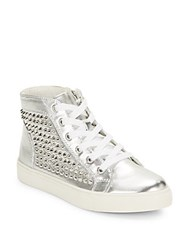 Steve Madden Levine Studded High Top Sneakers Black