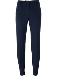 P.A.R.O.S.H. 'Lily' Tapered Trousers Blue