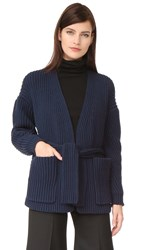 Acne Studios Beate Chunky Cardigan Bright Navy