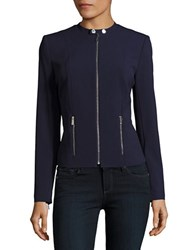 Calvin Klein Knit Zip Front Jacket Twilight