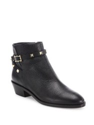 Valentino Rockstud Leather Ankle Booties Black