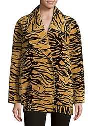 Adam By Adam Lippes Double Breasted Coat Tiger