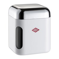 Wesco Square Canister With Window White