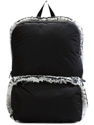 Christopher Raeburn Lightweight Fringed Backpack Black