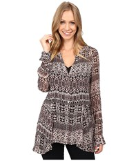 Sanctuary Romantic Lost In Paris Blouse Light Autumn Folklore Women's Blouse Brown