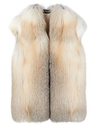 Derek Lam Sleeveless Jacket Nude And Neutrals