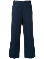 Bellerose Cropped Tailored Trousers Blue