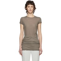 Rick Owens Taupe Level T Shirt