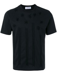 Jimi Roos Star Embroidered T Shirt Black
