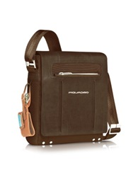Piquadro Link Vertical Messenger Bag Dark Brown