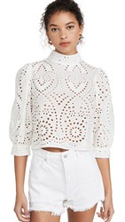 Rolla's Stephanie Lace Blouse White