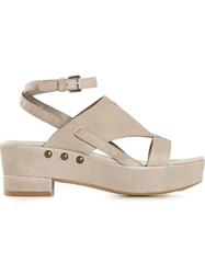 Henry Beguelin Wedge Sandals Grey