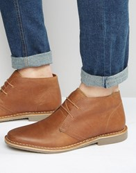 Red Tape Desert Boots In Tan Leather Tan