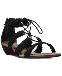 Carlos By Carlos Santana Kenzie Lace Up Gladiator Sandals Women's Shoes Black