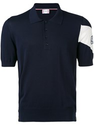 Moncler Gamme Bleu Chevron Sleeve Polo Men Cotton 3 Blue