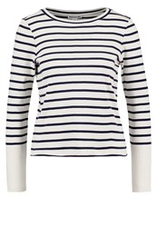 Whistles Long Sleeved Top Ivory Navy Off White