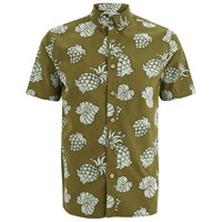Penfield Men's Belden Printed Short Sleeve Shirt Olive