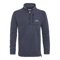 Weird Fish 1 4 Zip Tech Soft Jumper Navy