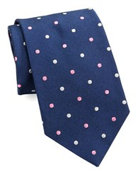 Brooks Brothers Classic Polka Dot Tie Navy