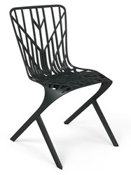 Knoll Washington Skeleton Outdoor Aluminum Side Chair Black Multicolor
