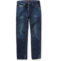 Chimala Slim Fit Selvedge Washed Denim Jeans Blue