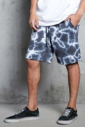 Forever 21 Tie Dye French Terry Shorts Black White