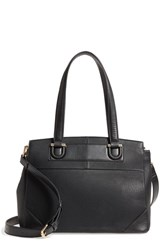 Sole Society Sterling Faux Leather Satchel Black