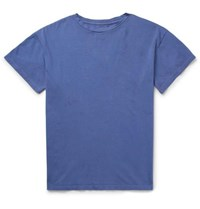 The Elder Statesman Cotton Jersey T Shirt Blue