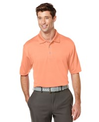 Pga Tour Men's Big And Tall Airflux Solid Golf Polo Coral